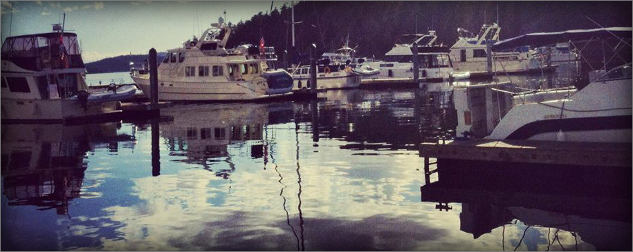 Deer Harbor Marina on beautiful Orcas Island